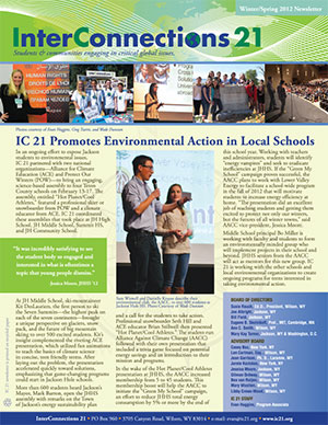 IC21 Winter 2012 Newsletter